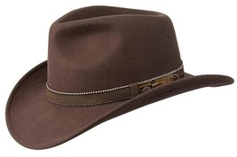 NEW Conner White Oak Outback Wool CRUSHABLE Western Cowboy Hat Brown C1067 - €49,53 EUR