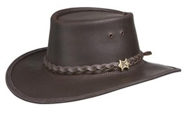 NEW BC Hats AUSTRALIAN Stockman Oiled LEATHER Western Cowboy Hat Brown N... - €82,10 EUR