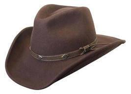 NEW Conner Men's Shapeable Water Proof WOOL Cowboy Hat Brown 3.5 Brim C1016 - €59,26 EUR