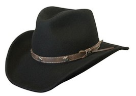 NEW Conner Men's Shapeable Water Proof WOOL Cowboy Hat Black 3.5 Brim C1016 - €59,26 EUR