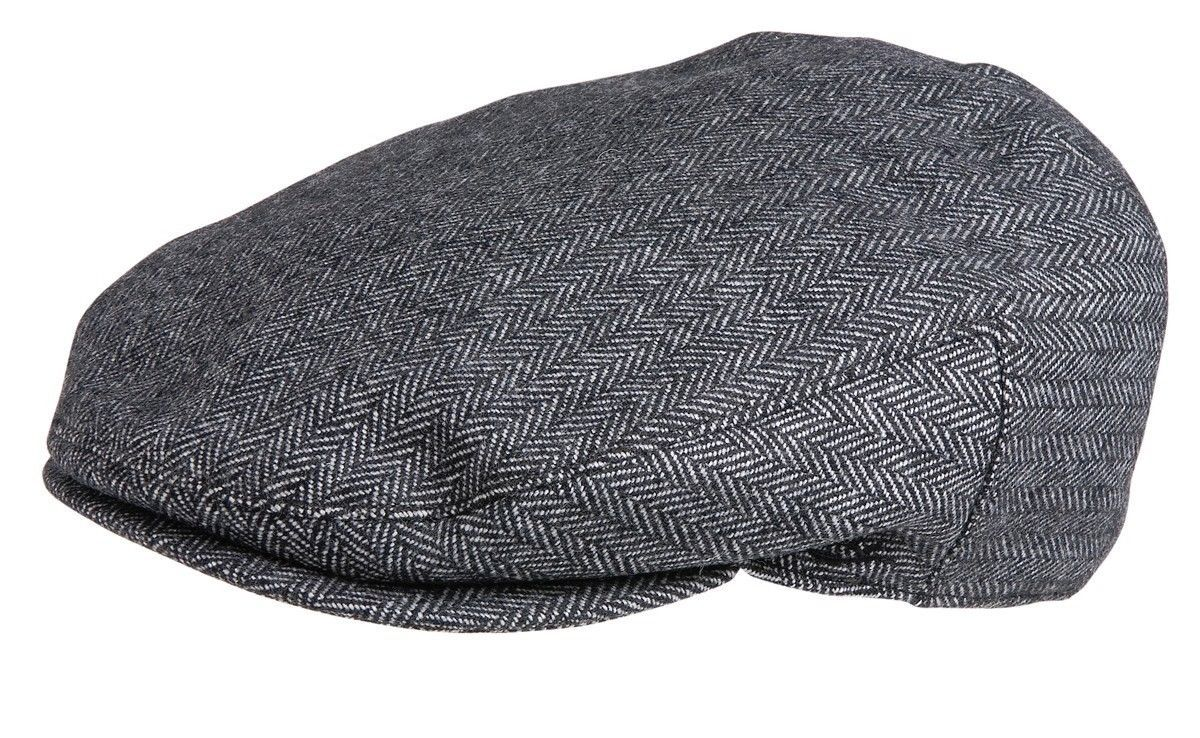 NEW Conner Hats Cotton Ivy Cap Cabbie Newsboy Golf Hat Driver Black Herring NWT