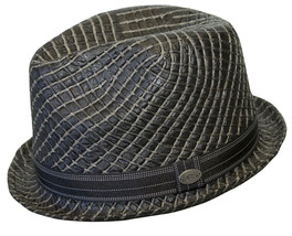 NEW Conner Hats Hand Woven Toyo Straw Stingy Brim Fedora Trilby Hat Blac... - £17.74 GBP+