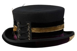 NEW Conner Hats Ladies STEAMPUNK Australian Wool Victorian Velvet TOP HA... - €77,85 EUR