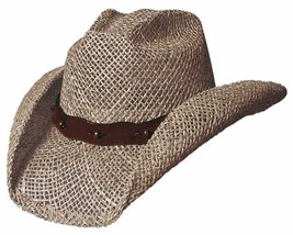 "NEW Montecarlo Bullhide ""AFTER PARTY"" Western Cowboy Hat Sea Grass Toyo ... - $62.61 CAD+"