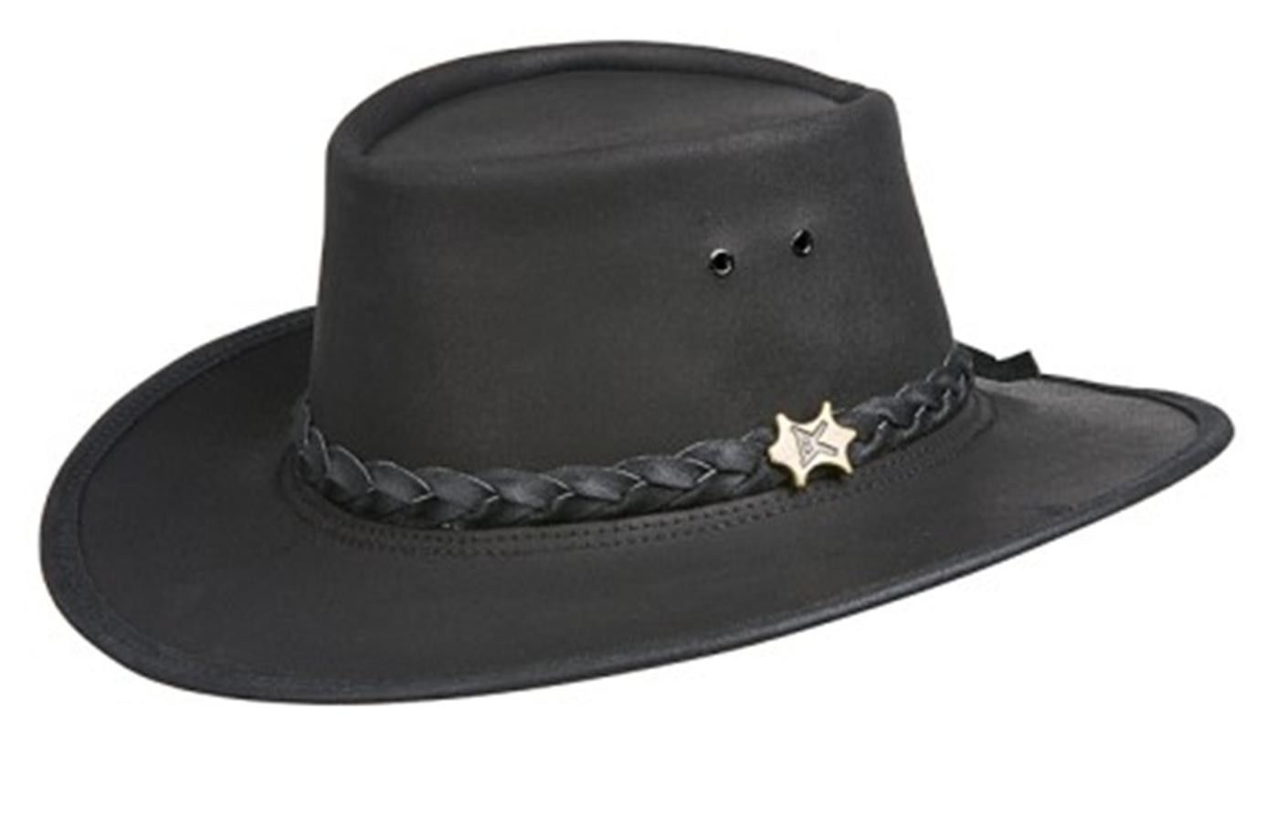 f65d9052dc3 Bc Hats Stockman Genuine Black Aussy Leather and 50 similar items