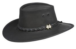 BC Hats STOCKMAN Genuine Black Aussy LEATHER Cowboy Hat - $1.749,81 MXN