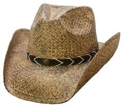 NEW Conner Shapeable Brim Organic Raffia Straw Western Cowboy Hat UPF 50... - $827,37 MXN