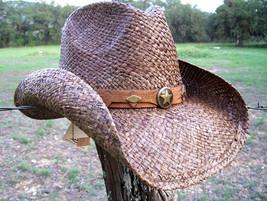 NEW Conner Country Westren Dark Brown Raffia Straw  Cowboy Hat NWT - €41,76 EUR