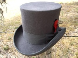 NEW Scala Grey MAD HATTER Victorian Dickens Tuxedo Dress TOP HAT QUALITY... - $75.95