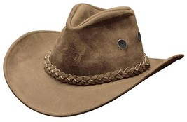 NEW USA MADE Henschel Hats HIKER Tan Oiled Split Rugged Leather Western ... - $77.95