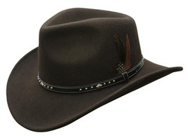 NEW Conner CRUSHABLE 100% Rain Proof WOOL Outback Western Hat Brown C1030 - €56,61 EUR