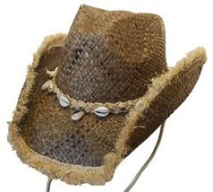 NEW Conner Organic Raffia Straw 3.5 Brim Western Cowboy Hat UPF 50+ Brow... - €39,97 EUR