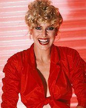 Randi Oakes in open red shirt looking sexy 16x20 Canvas Giclee - $69.99