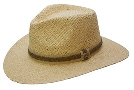 NEW Conner Hats Outback Organic Raffia & Toyo Crushable Western Cowboy H... - €42,68 EUR