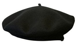 NEW Conner Hats Black BERET CRUSHABLE Water Rain Proof WOOL Felt Hat C1010 - £21.55 GBP