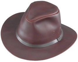NEW MADE in the USA Henschel Hats CRUSHABLE SAFARI FEDORA Leather Hat Br... - £30.12 GBP+
