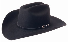 NWT Silverado CHEYENNE 2X Wool Blend Western Cowboy Hat Black Made In US... - €76,08 EUR