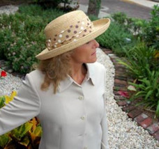 NEW Conner Hats Ladies Narrow Braid Raffia CRUSHABLE Women's Sun Hat NWT - €47,76 EUR