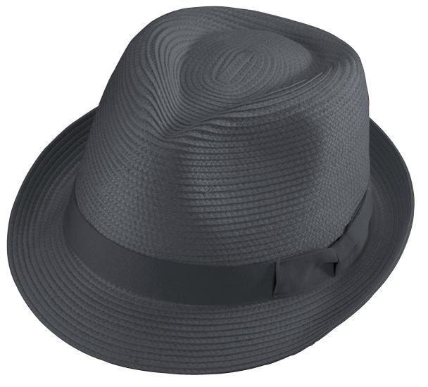New Henschel FEDORA Mens Black Straw Lightweight Comfortable Hat Classy NWT  -  45.95 85392fc2e341