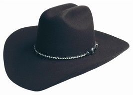 NEW SILVERADO Hats BLACK HILLS 2X Wool Western Cowboy Hat Black MADE in ... - €64,58 EUR