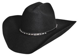 NEW SILVERADO Hats BLACK GEM 2X Wool Western Cowboy Hat Black MADE in th... - €70,77 EUR