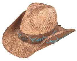 New Henschel AUSTRALIAN Ladies Hand Stained Raffia Cowboy Western Hat NWT - $865,02 MXN