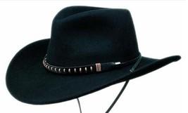 NEW Black Creek Hats BC2003 Crushable Wool Felt Cowboy Western Hat Black... - $1.166,22 MXN