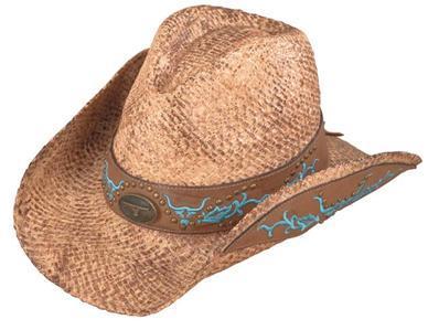New Henschel AUSTRALIAN Ladies Hand Stained Raffia Cowboy Western Hat NWT