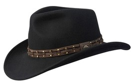 NEW Conner Wyoming Outback Wool CRUSHABLE Western Cowboy Hat Black C1066 - €58,38 EUR