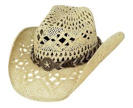 NEW Montecarlo Bullhide NAUGHTY GIRL Toyo Straw Cowboy Western Hat Natur... - ₨3,767.05 INR