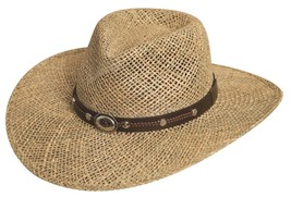 NEW SILVERADO Hats SISKIYOU Seagrass Straw Western Cowboy Hat MADE in th... - $75.95