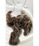 NEW Ladies SCALA Quality RABBIT FUR Warm Women's Winter Ruffle Scarf Bro... - $49.45