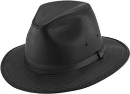 NEW USA Made Henschel Hats Smooth Garment LEATHER Lined SAFARI Fedora Ha... - $81.95