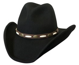 NEW Conner Men's Shapeable Water Proof WOOL Western Cowboy Hat Black 3.7... - €50,29 EUR
