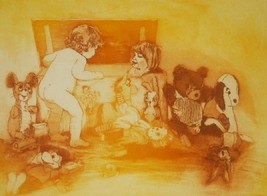 "A/P HAND SIGNED JOAN PURCELL ""ALL OUT"" AQUATINT PRINT - $484.49"