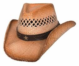 NEW Montecarlo Bullhide Hats ALAN REED Western Cowboy Hat Raffia Straw C... - ₨3,487.75 INR