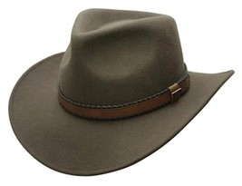 NEW Conner CRUSHABLE 100% Water Proof WOOL Outback Cowboy Hat Loden C1020 - $57.55+