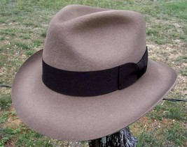 NEW Henschel Hats INDY Outback Lined WOOL Fedora Trilby Hat Stained Rust... - $65.95