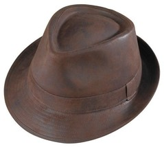 New Henschel FEDORA Faux Ultra Suede Hat Mens Satin Lining Stylish Cool NWT - $47.95