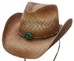 NEW Conner Vented Crown Organic Raffia Straw Western Cowboy Hat UPF 50+ NWT - €44,17 EUR