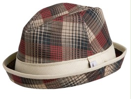 NEW Conner Hats Turned up Brim Fedora Dress Fashion Trilby Hat Red Mix NWT - €30,67 EUR
