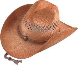 NEW Henschel Hats HIKER Vented Natural Raffia Straw Western Cowboy Hat NWT - £22.81 GBP+