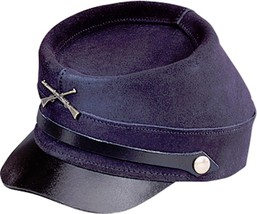 NEW Henschel Hats CIVIL WAR Military Cowhide Suede Leather Hat Blue NWT ... - $70.95