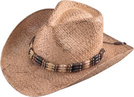 NEW Henschel Hats Hand Stained WALKER Burnished Straw Western Cowboy Hat... - £26.89 GBP