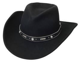 NEW SILVERADO - ODESSA Crushable Wool Western Cowboy Hat Black MADE in t... - €65,46 EUR+