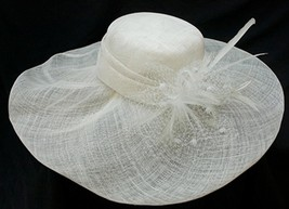 NEW Conner Hats Pure White Sinamay Quality Ladies Church Wedding Women's... - €64,58 EUR