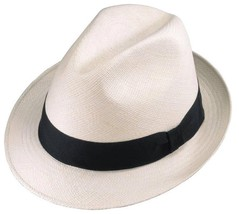 New Henschel Hats TEDDY KING Fedora Panama Straw Hat Hand Woven Ecuador ... - $89.95