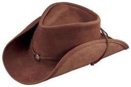 USA MADE Henschel WEEKEND WALKER Brown Leather Western Cowboy Hat + size... - £40.17 GBP+