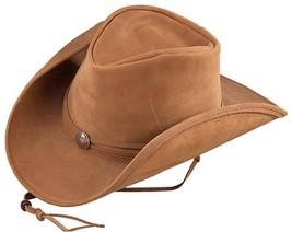 USA MADE Henschel WEEKEND WALKER Camel Leather Western Cowboy Hat + size... - £40.17 GBP+