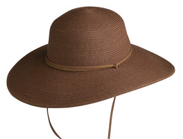 NEW Conner Hats Ladies Paper Braid CRUSHABLE Women's Sun Hat Dark Toast NWT - €40,67 EUR